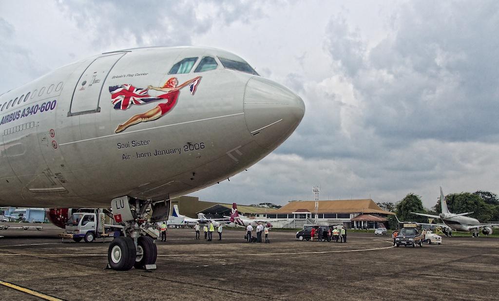 A340 at Halim Perdana Kusuma